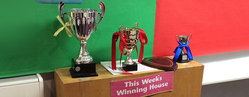 Winning house trophies