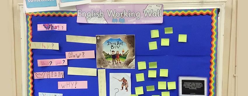 English working wall